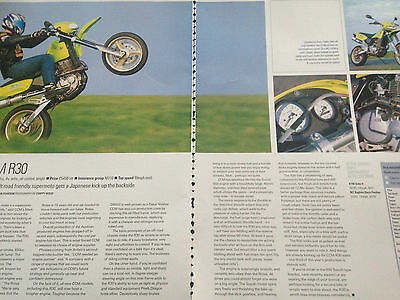 Ccm R30 # First Ride Report # 2 Page Motorcycle Article