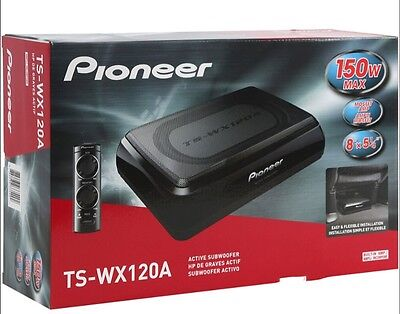 New Pioneer TSWX120A Under Seat 150 Watt Amplified Subwoofer System Low $