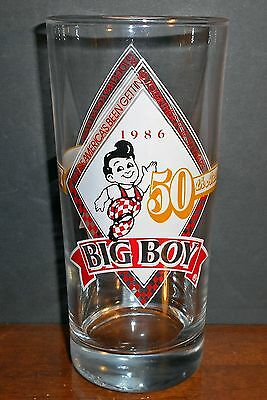 Bob's Big Boy Restaurant 50th Anniversary Glass 1986