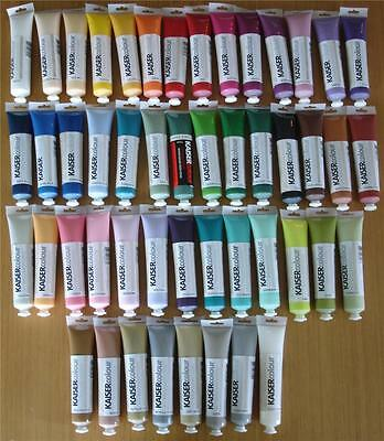 BULK LOT 48 KAISER Colour Artists Acrylic Paints 75ml Tubes Mixed Media Craft