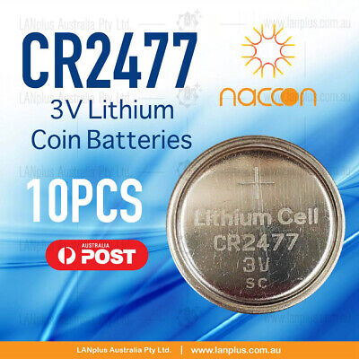 10x CR2477 3V Lithium Batteries STOCK IN Melbourne Button Coin CR-2477 CR2477/BN