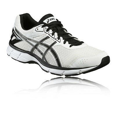 Asics Gel-Galaxy 9 Mens White Black Cushioned Running Sports Shoes Trainers