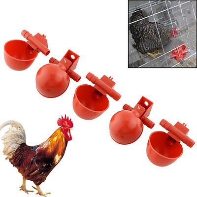 New 5Pcs Feed Automatic Bird Poultry Chicken Fowl Drinker Water Drinking Cups