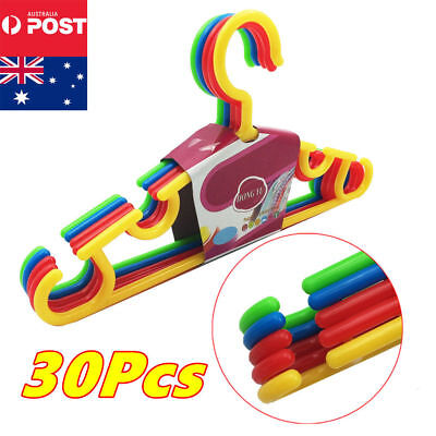 30pcs Baby Kids Plastic Children Trousers Hangers Hook Coat Clothes