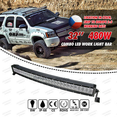 "200W CREE 22"" Curved LED Combo Work Light Bar Offroad Driving 4WD Truck ATV AWD"