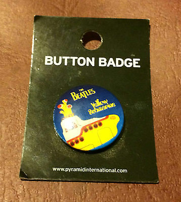 Beatles Yellow Submarine album badge from 2008 - . Made in the UK 25 mm dia