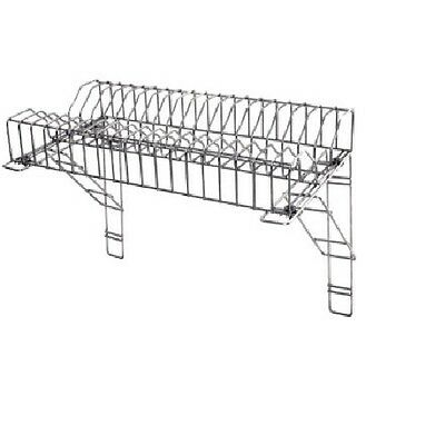 St/ Steel Plate Rack With Brackets For Dishes For Takeaways,Restaurants- 120 Cm