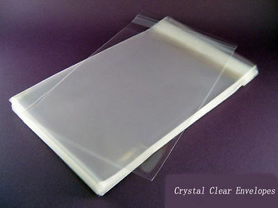 100 A2 4.6 x 6 Clear Resealable Cello/Plastic Envelope