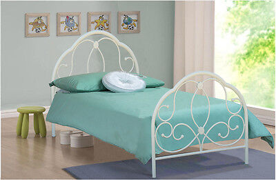 3Ft Single Metal Bed White Alexis Model Bedroom Furniture New Bed In Stock