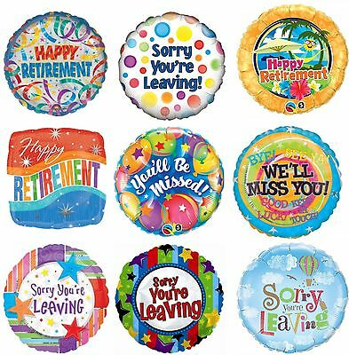 "Retirement Sorry You're Leaving Party Decoration Assorted 18"" Foil Balloon"