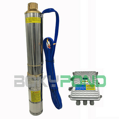 3 Inch, DC 48V  Solar Submersible Deep Well Water Pump With Controller 550W