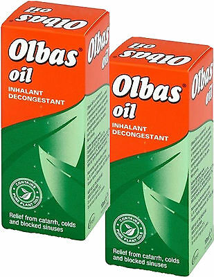 Olbas Oil Inhalant Decongestant 10Ml X2 Twin Pack For Colds & Blocked Sinuses