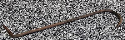 "Vintage Hand Forged Steel Barn Beam Hook 24"" long"
