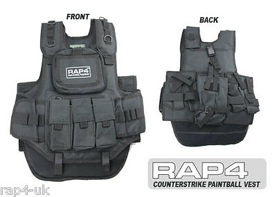 Real Action Paintball Black Counterstrike Paintball Vest  [AZ5]