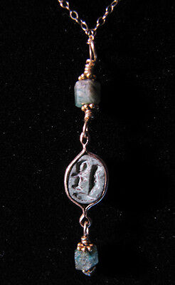 Egyptian Green Scarab Necklace - Ancient Art & Antiquities