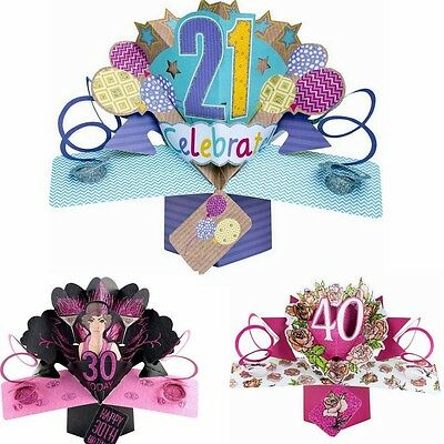 3D POP UP CARD 21st HAPPY BIRTHDAY CARD SECOND NATURE ##2