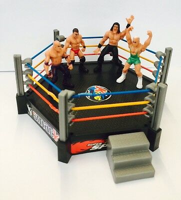 New Toy Wrestling Ring with 4 Figures Total NonStop Action Crash & Bash Play Set