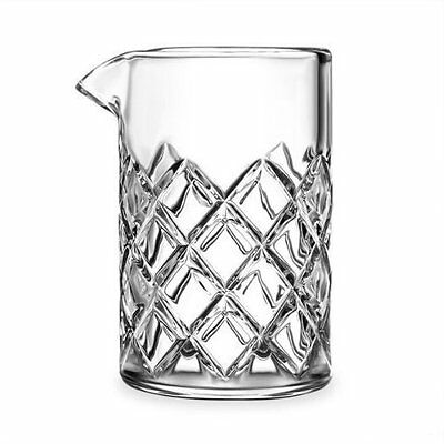 Cocktail Mixing Glass 500ml Classic Pitcher Japanese Yarai Pattern Heavy Duty