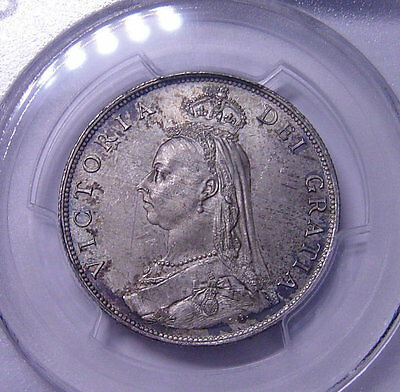 GREAT BRITAIN Florin 1887 SILVER PCGS MS64 High grade