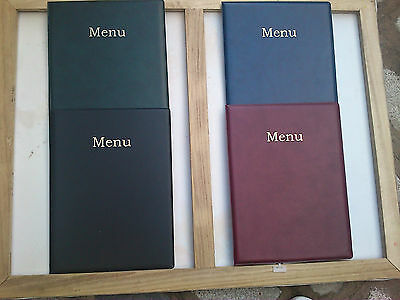 Qty 1 A4 Leather Look Menu Cover-Pockets On Page 2 & 3