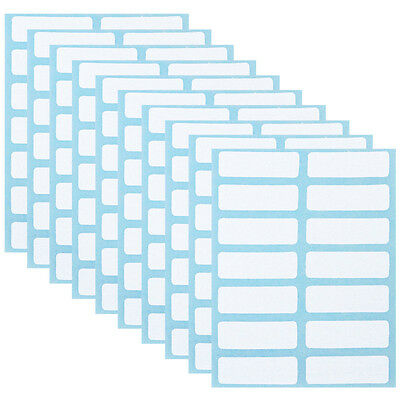 168PCS 13 x 38mm White Price Sticker Self Adhesive Labels Blank Name Number Tags