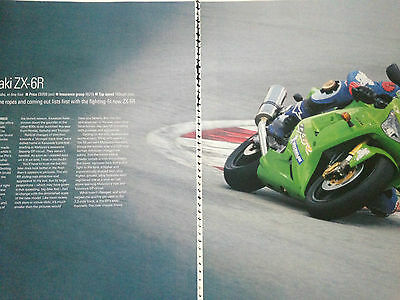 Kawasaki Zx-6R 2003 # First Ride Report # 6 Page Motorcycle Article