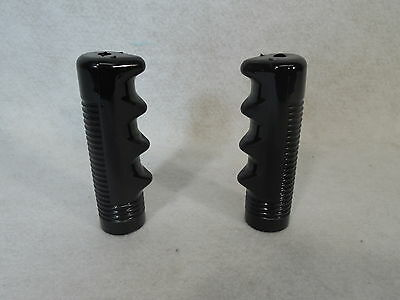 Wheelchair Hand Grip,Black Plastic,Molded Finger Knob Lot of (2) 1 pair.NEW 7/8""