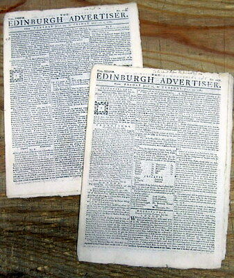 2 1782 newspapers w 3rd ANGLO-MYSORE WAR fought between INDIA & GREAT BRITAIN