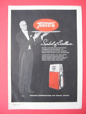 1959 TOKHEIM Quality Symbol of Excellence Gas Station Pumps Ad Print Page