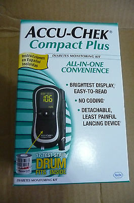 Accu Chek Compact Plus Diabetic Monitor Kit With Case