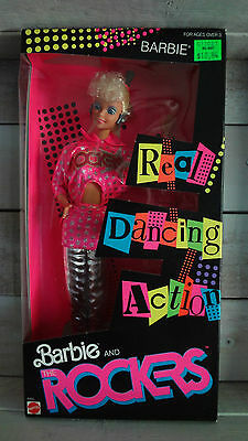 1986 Barbie and the Rockers w/Box! Real Dancing Action! Vintage Doll NRFP #3055