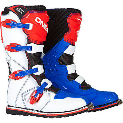 2017 O'Neal Rider Blue Red Motocross Off-Road MX Dirtbike ATV Riding Boots