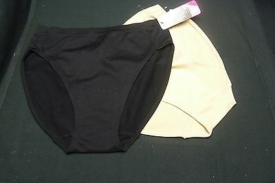 19b0919e9ccb Nouvelle Seamless Intimates 1 Nude 1 Black Hi-Cut Brief Panties Small
