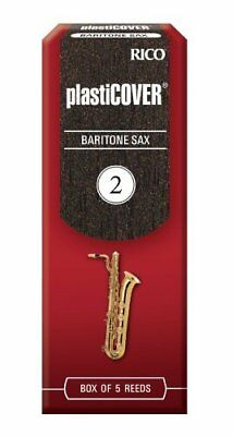 Rico Plasticover Baritone Sax Reeds, Strength 2.0, 5-Pack, Model RRP05BSX200