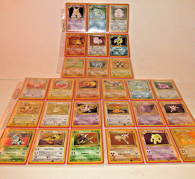 POKEMON COMPLETE 1st 3 SETS: BASE 102/102, JUNGLE 64/64 & FOSSIL 62/62 + BONUS