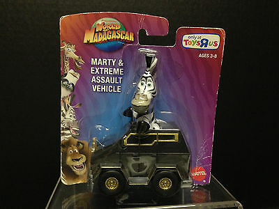 World Of Madagascar Marty & Extreme Assault Vehicle Car Action Figure