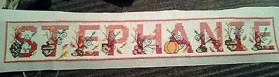 Completed cross stitch - I can stitch any word you like