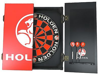 HOLDEN DARTBOARD CABINET SET - Man Cave Pool Room GMH Xmas Gift
