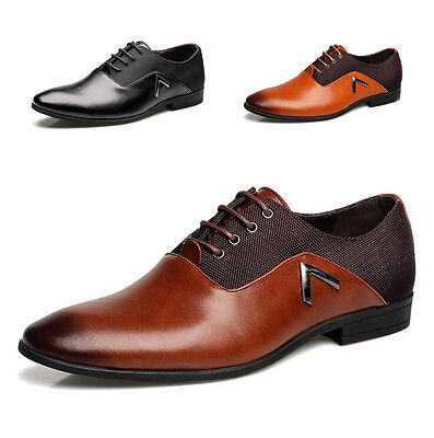 Large Size Men's Leather Shoes Pointy Toe Oxfords Dress Formal Bridegroom Party