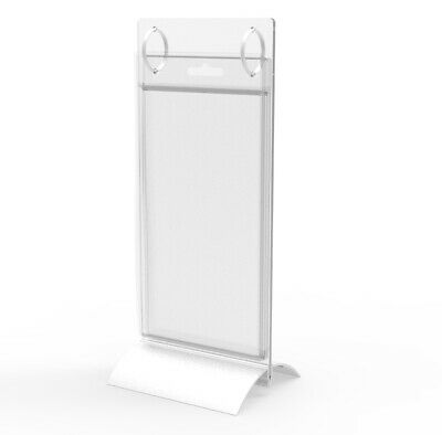 Aluminium Base Sign Menu Holder With 2 Rings, Includes (8) Plastic Sleeves 15711