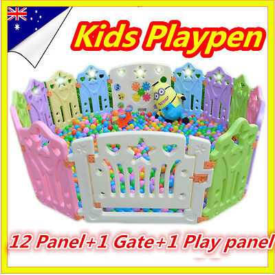 14 Sided Panel Toddler Kids Baby Boy Safety Playpen Divider Square Play Pens OZ