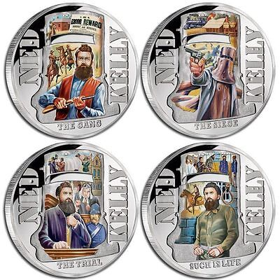 2015 Ned Kelly 4-Coin Silver Proof Set (10115)