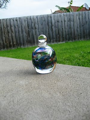 Beautiful Signed Don Wreford 94 Australian Art Glass Perfume Bottle Collectable