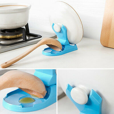 Kitchen Spoon Pot Lid Shelf Cooking Storage Stand Holder Kitchen Home Tool