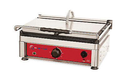 EQ TG2530EG Commercial Panini Maker Press Sandwich Grill Counter