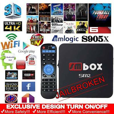 Android 6.0 TV Box 4K Quad Core Wifi Fully Loaded KODI 16.1 Free Sports Movies