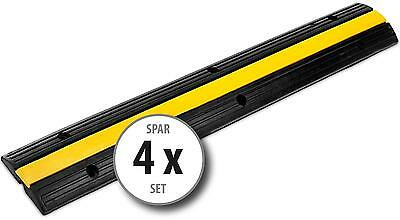 SET DE 4x 1 CANAUX PASSAGE DE CABLE PROTECION DES CABLES PONT JAUNE DE SECURITE