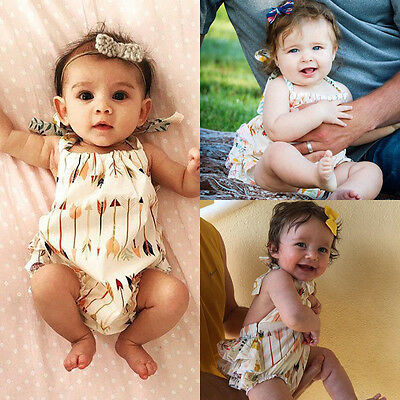 Newborn Infant Baby Girls Clothes Kids Romper Jumpsuit Outfits One-pieces Set US