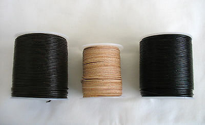 5metres of ROUND LEATHER CORD 1.5mm