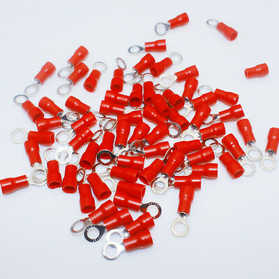 20x Wire Connector Red Ring Insulated Electrical Crimp Terminal AWG 16-22 Wiring